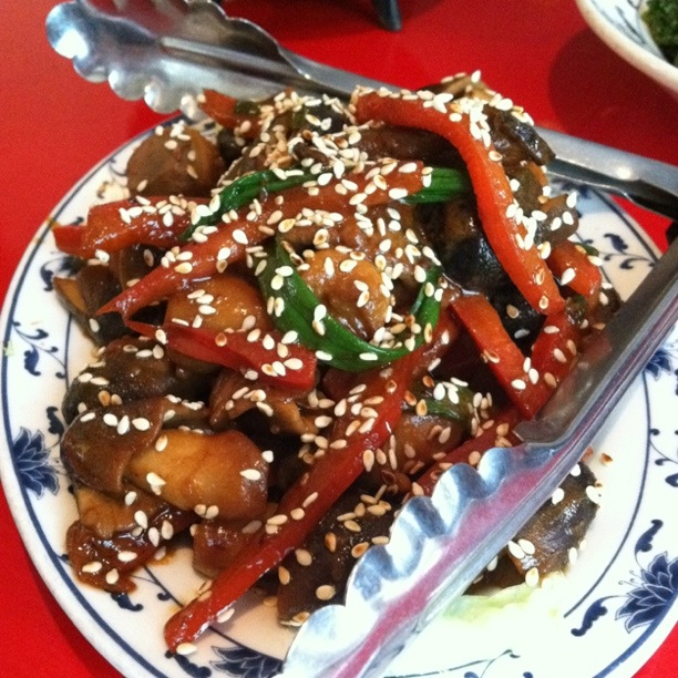 Mushrooms with Sesame Sauce