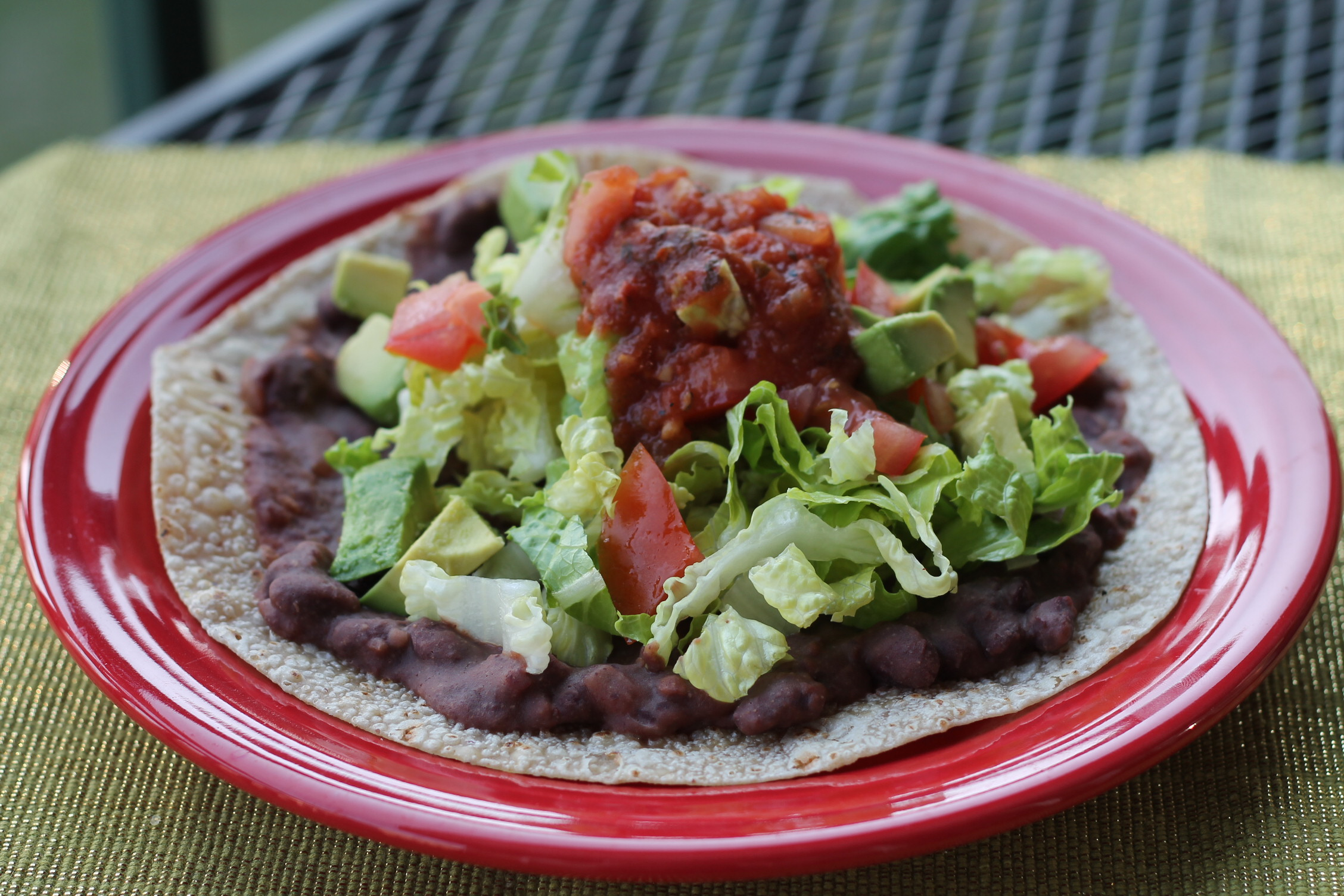 Chipotle Bean Tostada