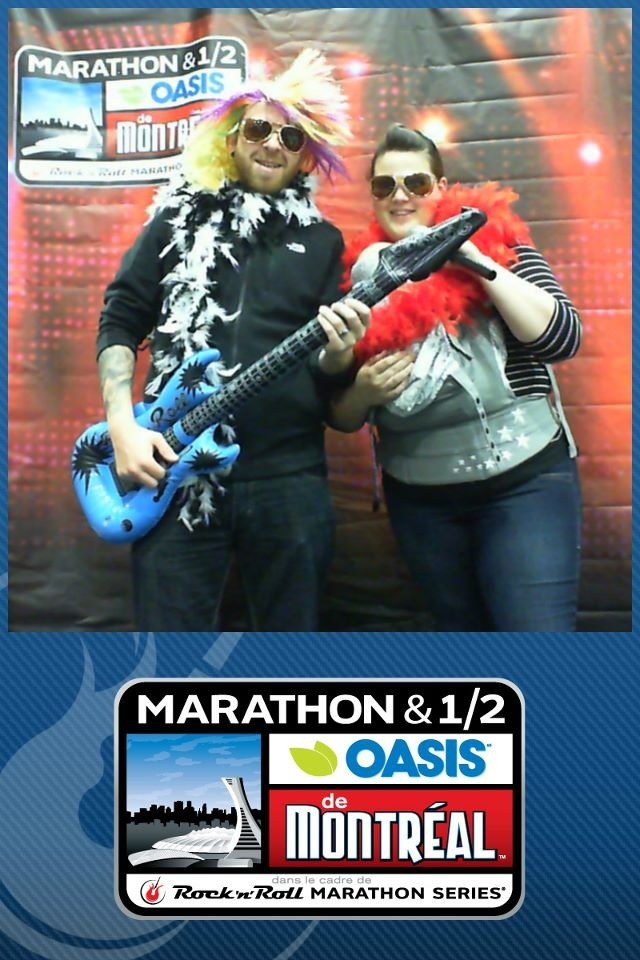 Rocking out at the Montreal Rock 'n' Roll Half Marathon