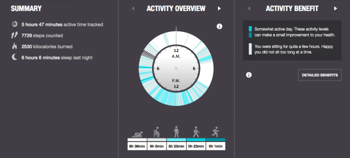 What an ideal day looks like - 53% activity