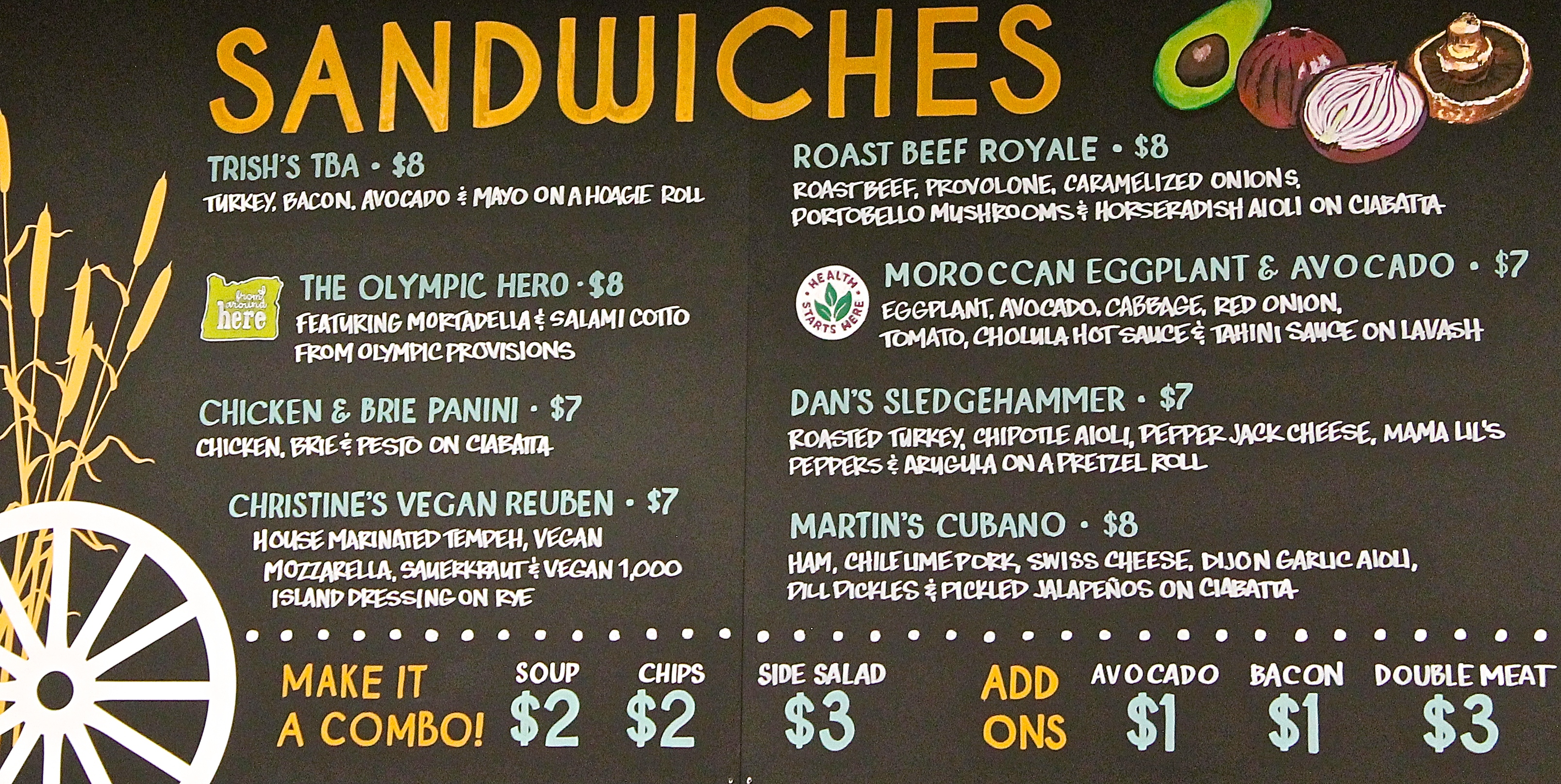 Whole foods market greenway tigard or for Whole food juice bar menu