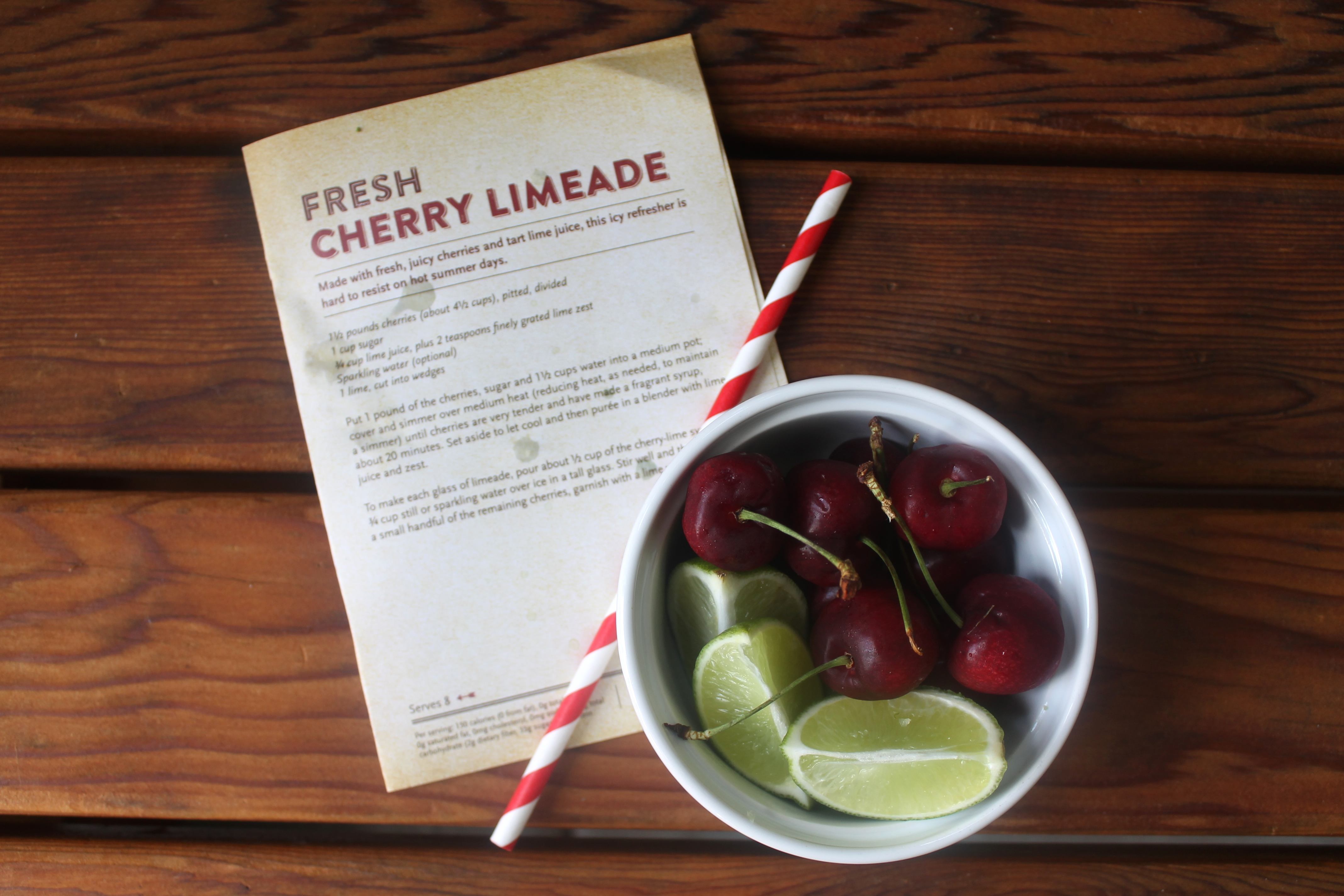 #WFMCherryFest // Fresh Cherry Limeade Recipe + Giveaway