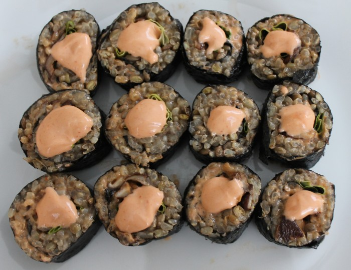 recipe brown rice and lentil sushi