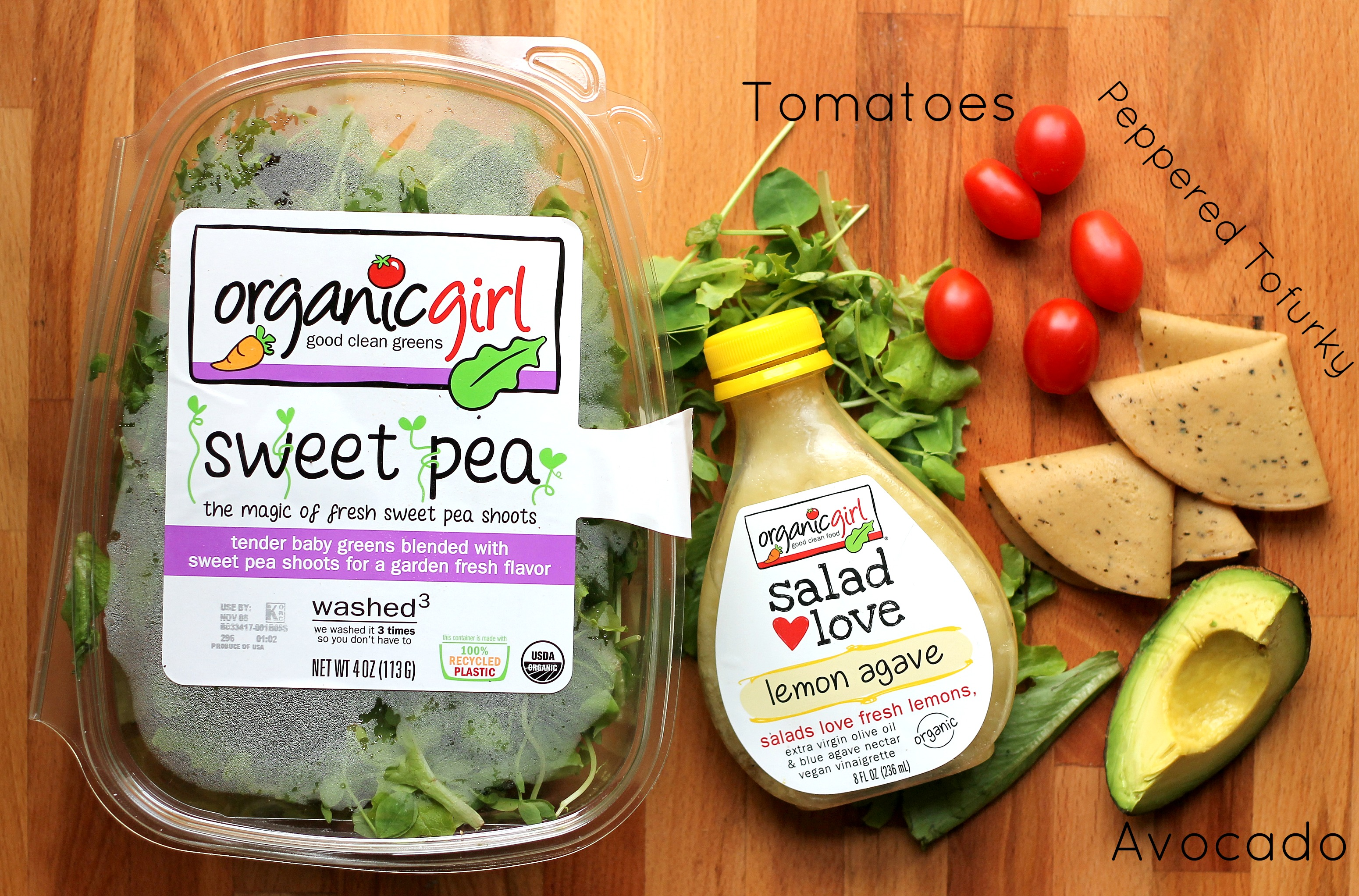 Upgrade Your Everyday Salad with organicgirl's new Sweet Pea and PEPPERGREENS
